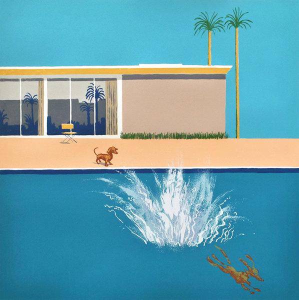 Hockneys Dog - Bigger Splash