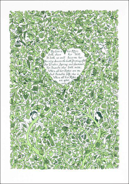 My Love in Her Attyre. (Green))
