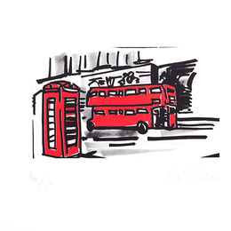 Phone Box and Bus