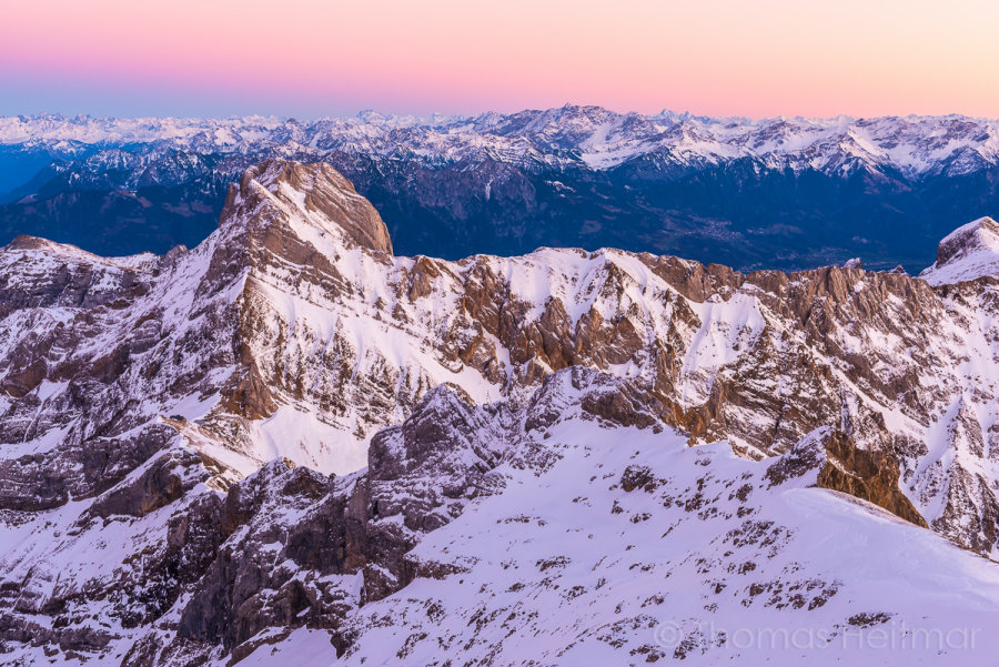 PIcture of the Month - December 2014 - View over the east Alps, Switzerland