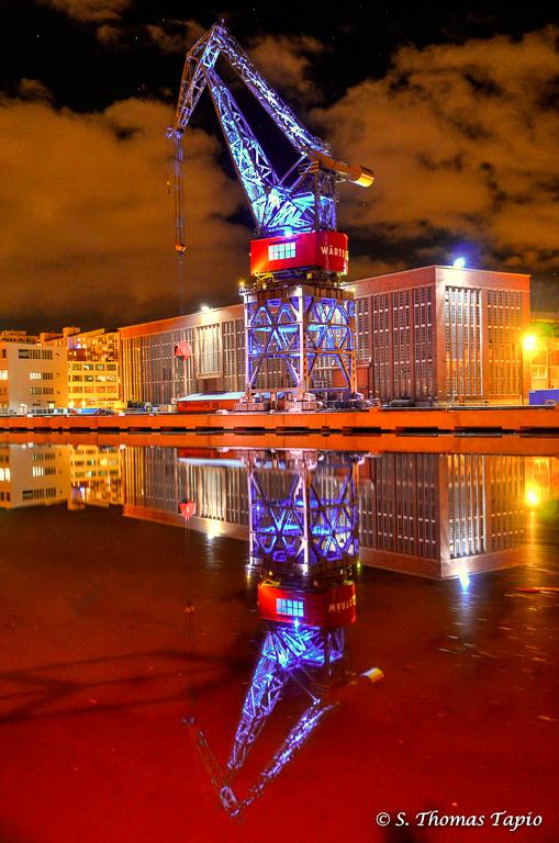 Turku Harbour by night