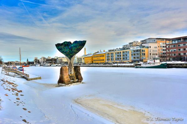 River Aura frozen