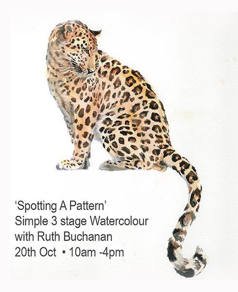 Leopard watercolour txt