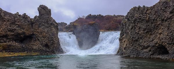 Hjálparfoss (double waterfall), Þjórsádalur Valley