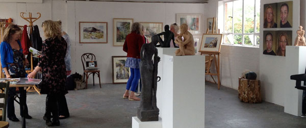 Visitors at Tidy St Chichester Art Trail 2014