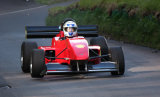 Broken rear suspension gives front wheel in the air attitude