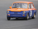 David Heale wone the Pre-66 Saloons race outright at Mallory