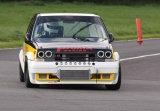 Renault 5 sends marker post flying
