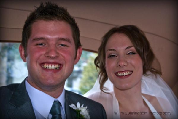 In the Wedding Car