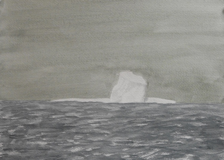 The First Iceberg.  31 x 23cm- Sold
