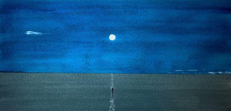 Ice Moon 57 x30cm