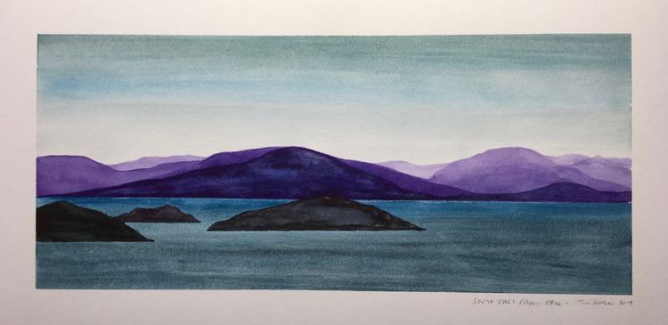 South East from Coll. 35 x 18cm