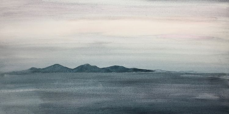 Out from Oban. 53 x 27cm