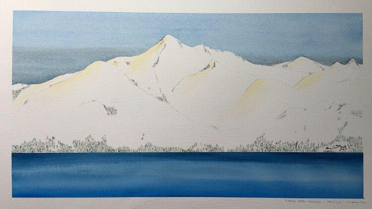 Khamar Daban Mountains -from TSR.  53 x 29cm