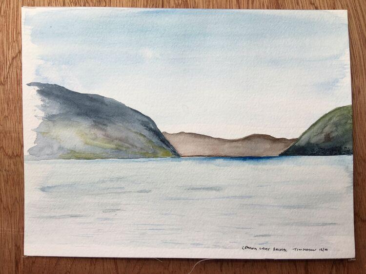 Leaving LakeBaikal.  20 x 15cm