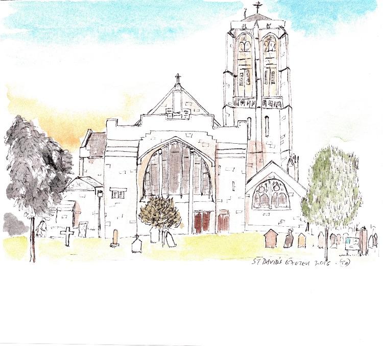 St David's Exeter. 12 x 12cm-NFS