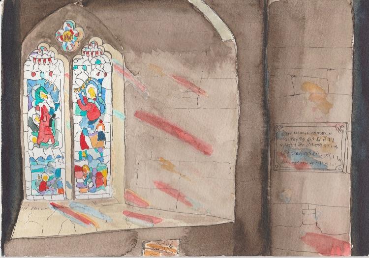 St Michael's Church, St Michael's Mount. 26 x 18cm