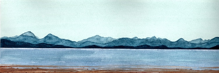 The Islands. 20 x 50cm.  SOLD