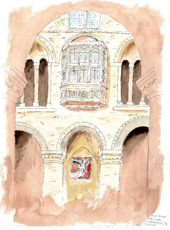 Prior Bolton's Oriel Window. 23 x 31cm.  Sold