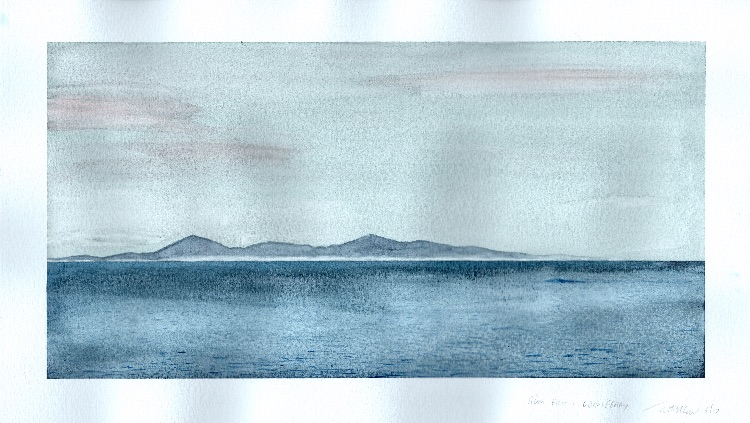 Rum from Oban ferry.  33 x 17cm. Sold