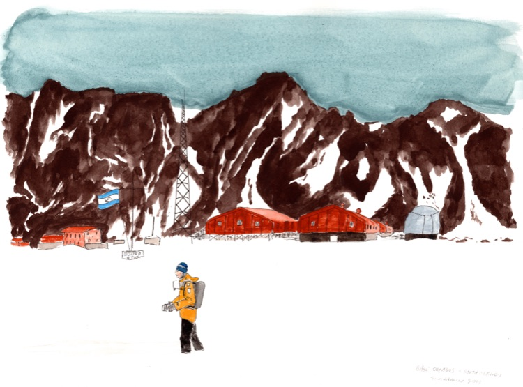 Base Orcados, South Orkney. 23 x 31cm