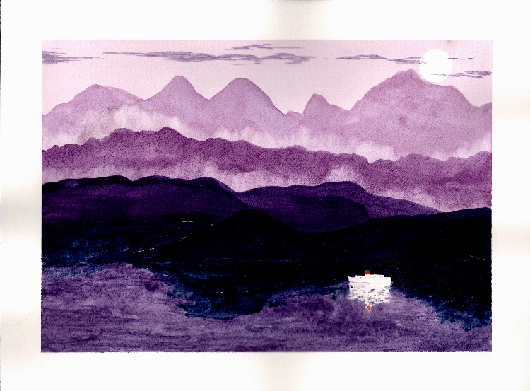 Sea and Mountains.  26 x 18cm