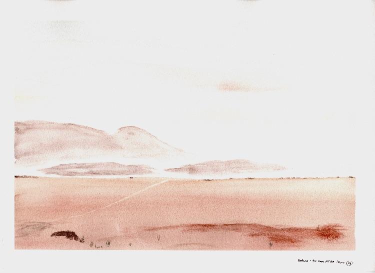 Hoanib- an hour after dawn. 37 x 25cm