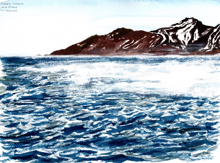 Force 8, gusting 12, South Georgia. 23 x 31cm-Sold