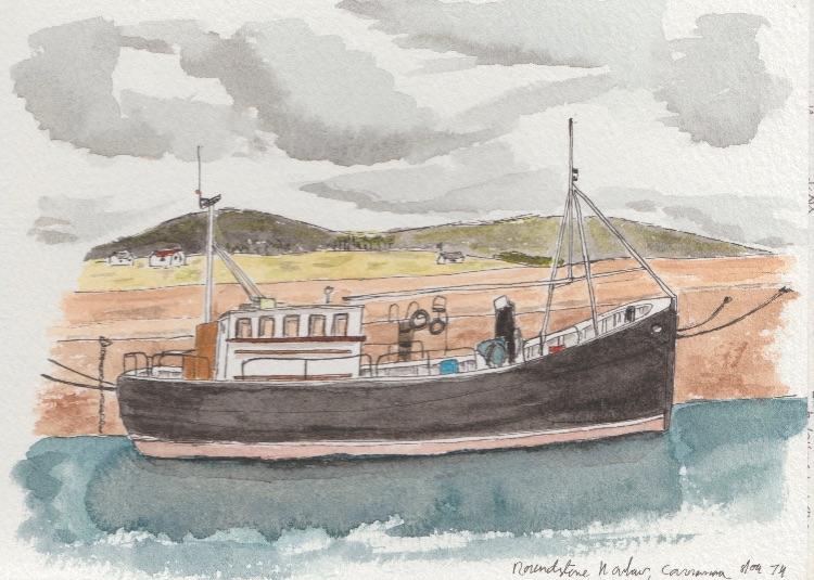 Roundstone Harbour.  17 x 13cm