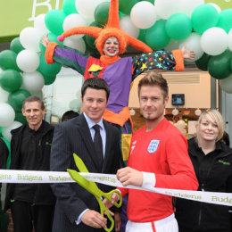 Store Opening with Andy Harmer, David Beckham lookalike.