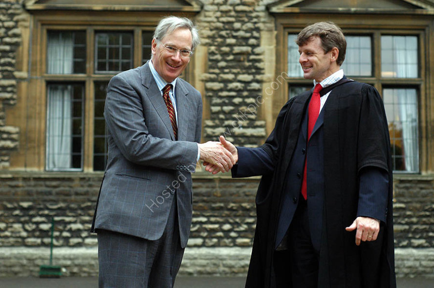The Duke of Gloucester with Andrew Halls