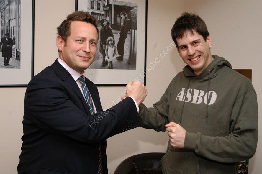 MP Ed Vazey and Sam Jordison
