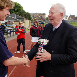 Sir Roger Bannister at Ifley Road Track