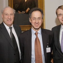 Sir Victor Blank and Clive Bannister