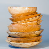 Spalted Beech Dishes- stacked