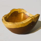 Heavy Natural Edge Yew Bowl £75