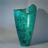 Natural Edge Burr Poplar Stained Vase