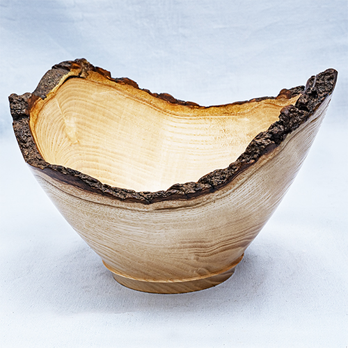 Natural Edge Ash Vessel - £50