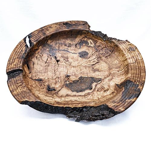 Large Natural Edge Olive Wood Platter  £105