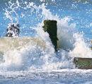 Waves Breaking Tywyn.