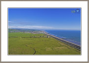 Look Back At Tywyn From The Afon Dysynni shot taken at 55 meters Altitude.
