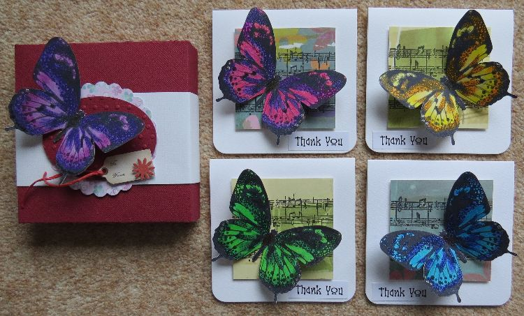 Butterfly Thank You Notecards Box Set