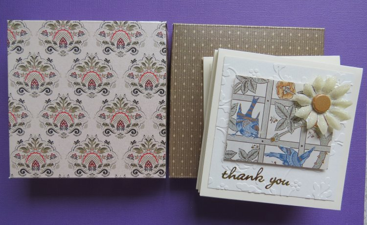 Flower Thank You Notecards Box