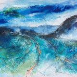 Blue Landscape 45.5x35cms