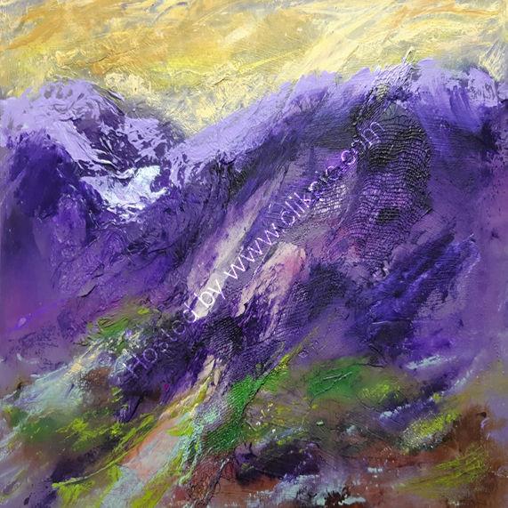 Purple Hills 43X33.5