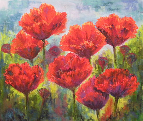 Red Poppies - SOLD
