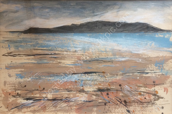 Towards Brean Down 53x43cms