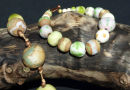 yellow/green bracelet and  necklace