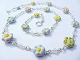 1. pastel flower necklace