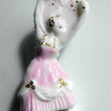pink girl dancer brooch